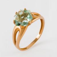 Золотое кольцо с кварцем ЮИК120-4911Квз