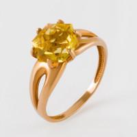 Золотое кольцо с кварцем ЮИК120-4911Квл