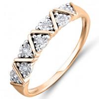 Золотое кольцо с бриллиантами ЛФР01-Д-Р301377ДИА