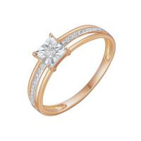 Золотое кольцо с бриллиантами ЛФР01-Д-Р309711ДИА-Р17