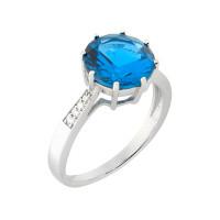 Серебряное кольцо с александритами МЮР1096