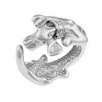 Серебряное кольцо с фианитами ИАС10090