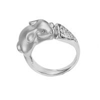 Серебряное кольцо с фианитами ИАС10230