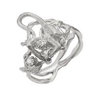 Серебряное кольцо с фианитами ИАС11230