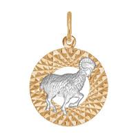 Золотой знак зодиака «овен»