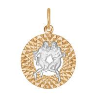 Золотой знак зодиака «близнецы» ДИ031379
