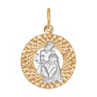 Золотой знак зодиака «водолей» ДИ031387