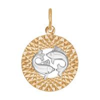 Золотой знак зодиака «рыбы» ДИ031388