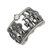 Серебряное кольцо с фианитами ИАС12450