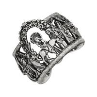 Серебряное кольцо ИАС12480Б без вставок