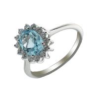 Серебряное кольцо с цитринами МЮР1035