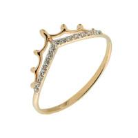 Золотое кольцо с фианитами ЮПК1321388