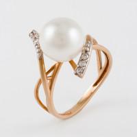 Золотое кольцо с жемчугом ФЖ21408.1