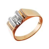 Золотая печатка с бриллиантами МБ1-104-862