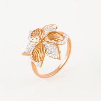 Золотое кольцо с фианитами 3ВК132-436