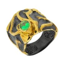 Серебряное кольцо с сваровски ПВР-0137Бзл