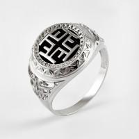 Серебряная печатка с ониксами РЫ15256503С