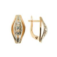 Золотые серьги с фианитами ДП125568