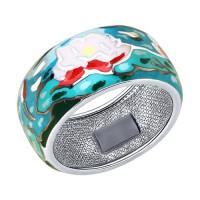 Серебряное кольцо с эмалью ДИ94012214