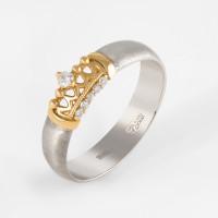Золотое кольцо обручальное с бриллиантами КАКО-ОКБ290Г