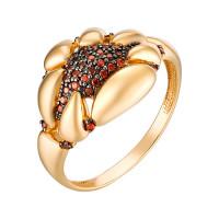 Золотое кольцо с гранатами фианитами ЮИК134-5034Фгр