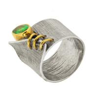 Серебряное кольцо с сваровски ПВР-0210зл
