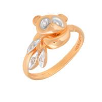 Золотое кольцо с фианитами АБ1201374Р