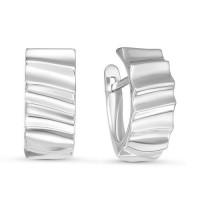 Серебряные серьги ДПС221107 без вставок камней