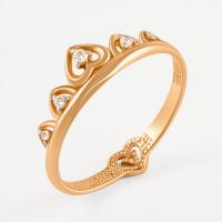 Золотое кольцо с фианитами СН01-115268