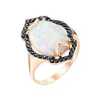 Золотое кольцо с опалами и фианитами ЮИК124-4438М1
