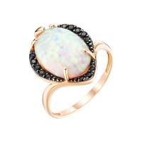 Золотое кольцо с опалами и фианитами ЮИК124-4439М1