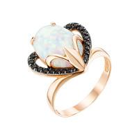 Золотое кольцо с опалами и фианитами ЮИК124-4440М1