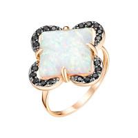 Золотое кольцо с опалами и фианитами ЮИК124-4441М1
