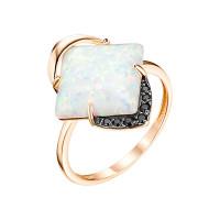 Золотое кольцо с опалами и фианитами ЮИК124-4442М1