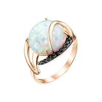 Золотое кольцо с опалами и фианитами ЮИК124-4443М1