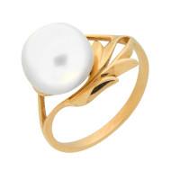 Золотое кольцо с жемчугом ПЭКЛ8128