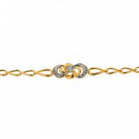 Золотой браслет с бриллиантами МБ10-087