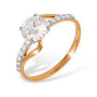 Золотое кольцо с фианитами ЮПК1322333