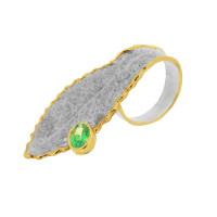 Серебряное кольцо с сваровски ПВР-0123зл