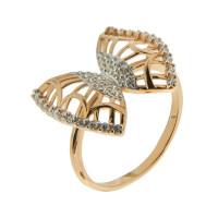 Золотое кольцо с фианитами СЩ70018500