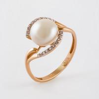 Золотое кольцо с жемчугом ПЭ1901419Р