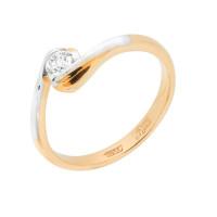 Золотое кольцо с бриллиантом МБ1105369