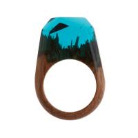 Бижутерное кольцо с смолой 9ГГВ-РГ