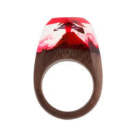 Бижутерное кольцо с смолой 9ГВ3Д-РГ