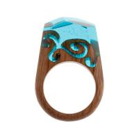 Бижутерное кольцо с смолой 9ГАП-РГ