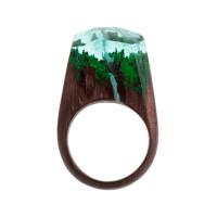 Бижутерное кольцо с смолой 9ГВТФ-РГ