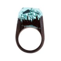 Бижутерное кольцо с смолой 9ГЦР-РГ
