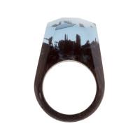 Бижутерное кольцо с смолой 9ГСФ-РГ