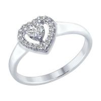 Серебряное кольцо с сваровски