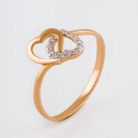 Золотое кольцо с фианитами 2БКЗ5К.1-01-1168-01